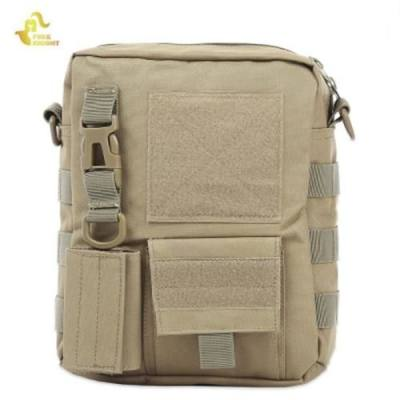 FREEKNIGHT BL086 PORTABLE WATER RESISTANT CAMOUFLAGE SINGLE SHOULDER POUCH OUTDOOR HUNTING ACCESSORY (KHAKI)