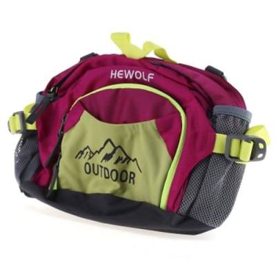HEWOLF 1634 UNISEX OUTDOOR WATERPROOF FANNY PACK MULTI-FUNCTION MOUNTAINEERING WAIST BAG (ROSE RED)