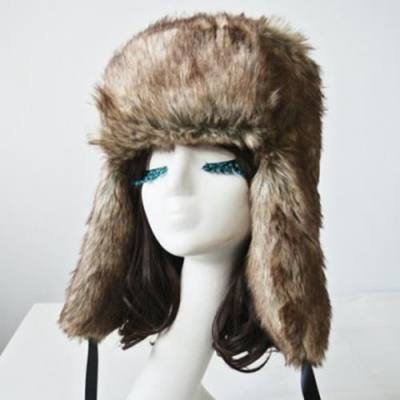 7c6f4aa3135e7 CHIC FLUFFY FLUFF AND RIBBONS DECORATED TRAPPER HAT FOR WOMEN (AS THE  PICTURE) -