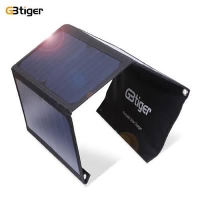 GBTIGER 21W DUAL USB SUNPOWER PANEL POWER EMERGENCY BAG (BLACK)