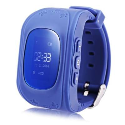 Q50 RUSSIAN VERSION CHILDREN SAFETY MONITORING GPS INTELLIGENT WATCH TELEPHONE (DEEP BLUE)
