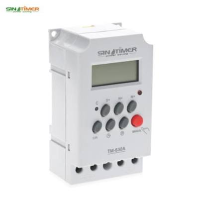 SINOTIMER 12V 24 HOURS PROGRAMMABLE MINI TIME SWITCH (WHITE)