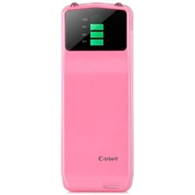 CAGER B039 PORTABLE 3000MAH BATTERY CHARGER LED DISPLAY MOBILE POWER BANK FOR SAMSUNG GALAXY S4 I9500 S3 I9300 NOTE 2 N7100 LG HTC NOKIA SONY ETC. (LIGHT PINK)