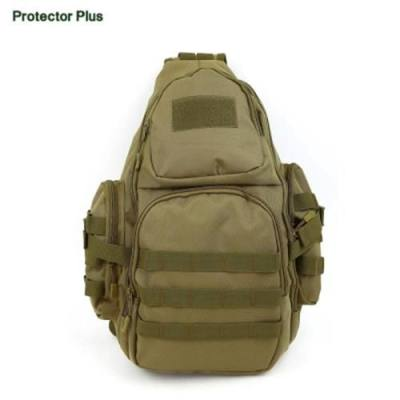 PROTECTOR PLUS 20 - 35L CYCLING CAMPING MESSENGER CHEST BAG (BROWN)