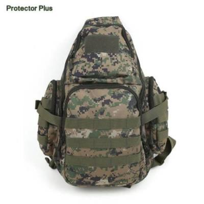 PROTECTOR PLUS 20 - 35L CYCLING CAMPING MESSENGER CHEST BAG (JUNGLE CAMOUFLAGE)