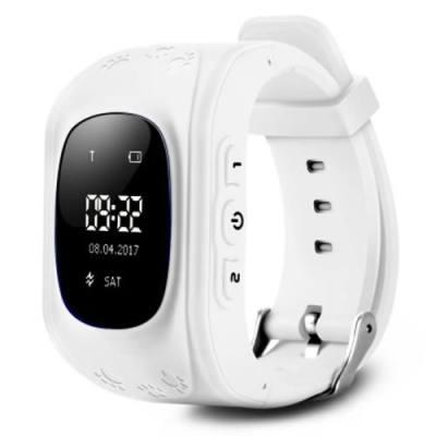 Q50 CHILDREN OLED DISPLAY GPS INTELLIGENT WATCH TELEPHONE (WHITE)