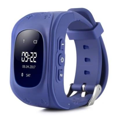 Q50 CHILDREN OLED DISPLAY GPS INTELLIGENT WATCH TELEPHONE (DEEP BLUE)