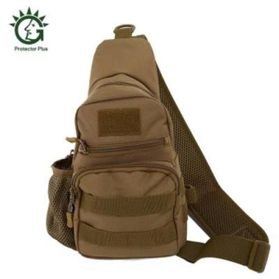 PROTECTOR PLUS UNISEX WEAR-RESISTANT NYLON OUTDOOR SPORTS CHEST PACK (BROWN)