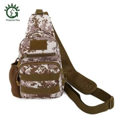 PROTECTOR PLUS UNISEX WEAR-RESISTANT NYLON OUTDOOR SPORTS CHEST PACK (MARPAT DESERT)