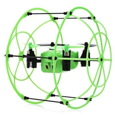 HELIC MAX SKY WALKER 1336 2.4GHZ 4CH RC QUADCOPTER 3D FLIP CLIMBING WALL ROLLER COPTER (GREEN)