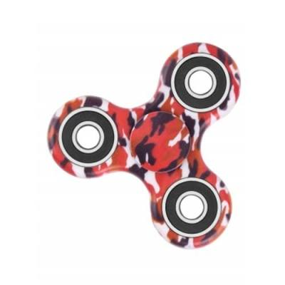 CAMOUFLAGE PRINT STRESS RELIEF FOCUS TOY FIDGET SPINNER (RED) -