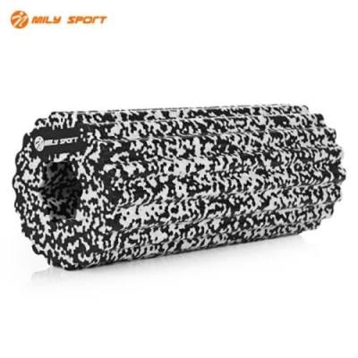 MILY SPORT HIGH DENSITY MUSCLE FEET YOGA EPP FOAM ROLLER (WHITE AND BLACK)