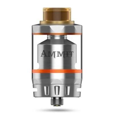 ORIGINAL GEEKVAPE AMMIT RTA DUAL COIL VERSION WITH 3ML / 6ML / POSTLESS DECK DESIGN FOR E CIGARETTE (SILVER)