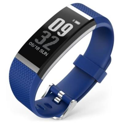 FIT HR SMARTBAND BLUETOOTH 4.0 IP67 WATERPROOF SLEEP MONITOR SEDENTARY REMINDER ANTI-LOST (BLUE)