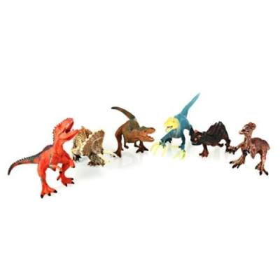 6PCS EDUCATIONAL DINOSAURS FIGURES TOYS FOR CHILDREN (COLORMIX)