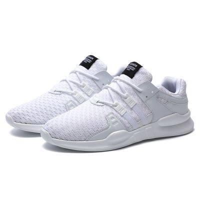 Breathable Sneakers Mesh Running Shoes for Men (WHITE)