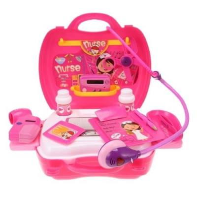 KIDS PRETEND DOCTOR PLAY GAME TOY SUITCASE KIT (PINK)