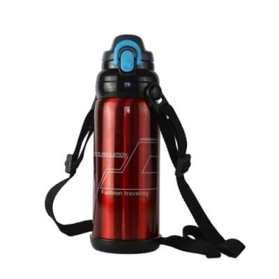 STAINLESS STEEL OUTDOOR PORTABLE SPORTS KETTLE 800ML (WINE RED)