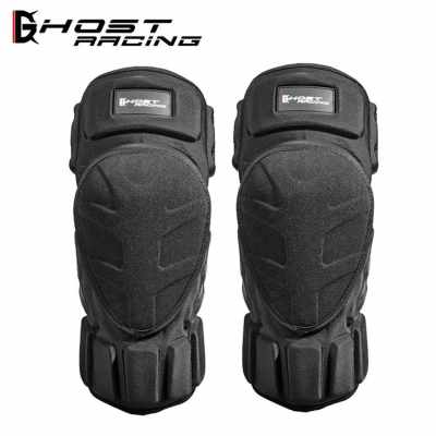 Motorcycle protective gear kevra racing off-road bike anti-crash ski knee pads elbow pads black (Black)