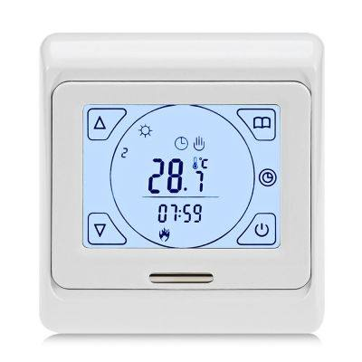 WEEKLY PROGRAMMING TOUCH-SCREEN HEATING THERMOSTAT (WHITE)