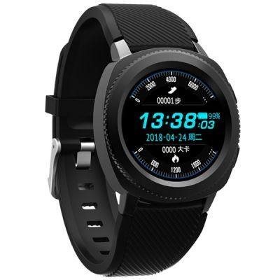 Microwear L2 Sports Smart Watch 1.3 inch MTK2502 32MB RAM 32MB ROM Heart Rate / Sleep Monitor / Pedometer / IP68 Water-resistant (BLACK)
