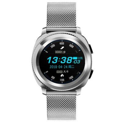 MICROWEAR L2 WATERPROOF SMARTWATCH WITH STEEL BAND HEART RATE / SLEEP MONITOR / STEP COUNTING FUNCTION (SILVER)