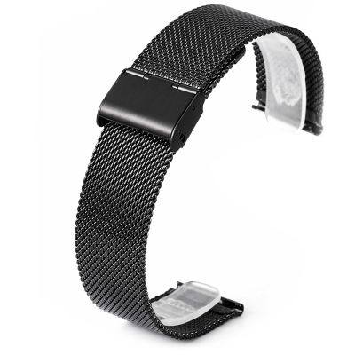 22MM STAINLESS STEEL MESH WRISTBAND FOR HUAMI AMAZFIT (BLACK)