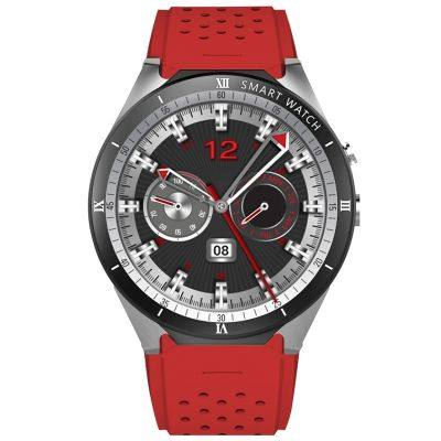 KingWear KW88 Pro 3G Smartwatch Phone 1.39 inch Android 7.0 MTK6580 Quad Core 1.3GHz 1GB RAM 16GB ROM Sedentary Reminder Bluetooth 4.0 350mAh Built-in (RED)
