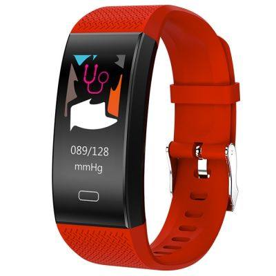 TenFifteen TF6 Smart Bracelet 0.96 inch Color Screen Heart Rate / Blood Pressure / Sleep Monitor Pedometer Sedentary Reminder Anti-lost (RED)