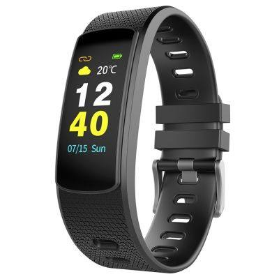 IWOWN i6HR C Sports Smart Bracelet 0.96 inch TFT Color Screen Heart Rate / Sleep Monitor Pedometer Sedentary Reminder USB Plug Bluetooth 4.2 (BLACK)