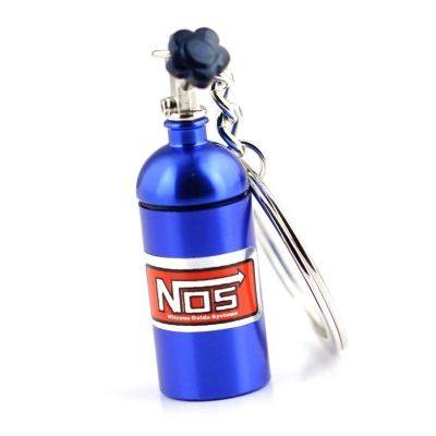 Mini Nitrous Oxide Bottle Turbo Keychain (BLUE EYES)
