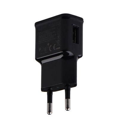 EU PLUG ADAPTER 5V 2A USB MOBILE PHONE WALL CHARGER FOR HUAWEI / XIAOMI / LG / SONY (BLACK)