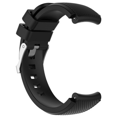 22CM Replacement Silicone Watch Band for Xiaomi Huami AMAZFIT Strap (BLACK)