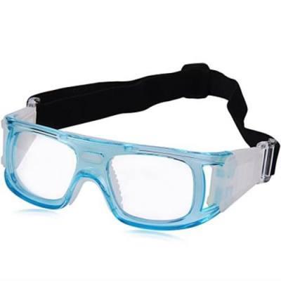 BASKETBALL FOOTBALL SPORTS EYEWEAR GOGGLES PC LENS PROTECTIVE EYE GLASSES (BLUE)