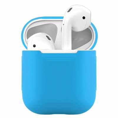 Protective Case For Airpods 1/2 Charging Case Silica Case (Light Blue)