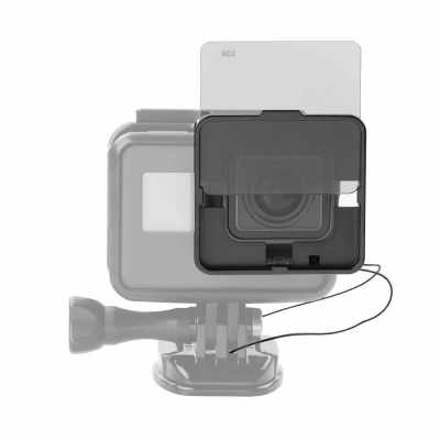 Square ND Lens Filter Protector Kit Set (ND2/ND4/ND8/ND16) for GoPro Hero 5 Naked Camera w/ Mounting Frame Holder (Standard)