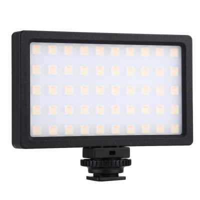 RGB Dimmable Led Fill Light 100LED 800LM Photography Lamp Camera Light Pocket Portable Photography Fill Light for DSLR Cameras/Smartphones (Standard)