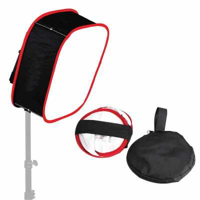 Portable Foldable LED Light Diffuser Soft Box Flash Speedlight Bounce Head Softbox for Photography Video Product Shooting with Carrying Bag (Standard)