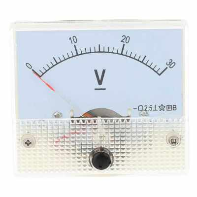 DC0-30V Analog Voltage Panel Meter Tester Voltmeter Gauge