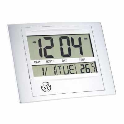 Multi-function Electronic Temperature Meter Digital Calendar Wall Clock Alarm Clock (Standard)