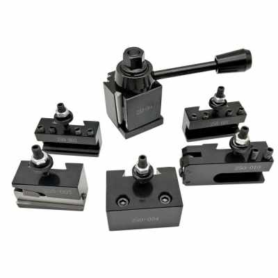 6pcs 250 Cuniform Type Quick Change Toolpost Tool Holder Set with 6-9