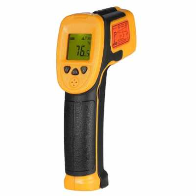 SMART SENSOR Mini Handheld Non-contact LCD Infrared Thermometer -32~550°C/-26~1022°F 12:1 Temperature Meter Digital IR Industrial Thermometer Data Hold Function (NOT for Humans) (Standard)