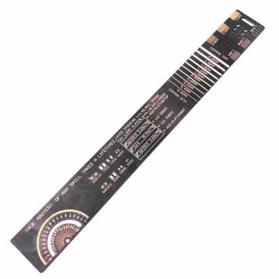 250mm PCB Reference Ruler Chip IC SMD Diode Transistor Measuring Tool For Electronic Engineers (Standard)
