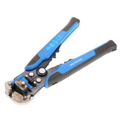 Meterk Multifunctional Automatic Adjustable Cable Wire Stripper Cutter Crimping Tool Peeling Pliers (Blue)