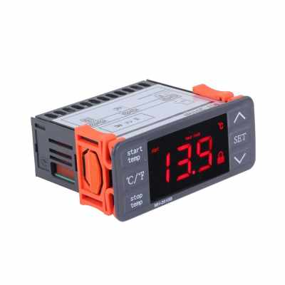 AC220V Digital LED Temperature Controller Touch-keys °C/°F Heating and Cooling Thermostat 10A 1 Relay with NTC Sensor (Standard)