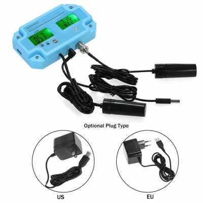 Professional 3 in 1 pH/TDS/TEMP Meter Water Detector Multi-parameter Digital LCD Tri-Meter Multi-function Water Quality Monitor Multiparameter Water Quality Tester (Blue)