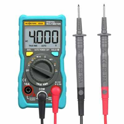 RICHMETERS 404A Digital Multimeter Auto-Ranging Ammeter True-RMS Smart NCV Portable 4000 Counts LCD Display Auto Range AC/DC Voltage Current Measurement Tools (Multicolor)