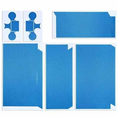 Original Citywolf Carbon Fiber Skin Sticker Cover Protector Blue for PS4 & Game Controller
