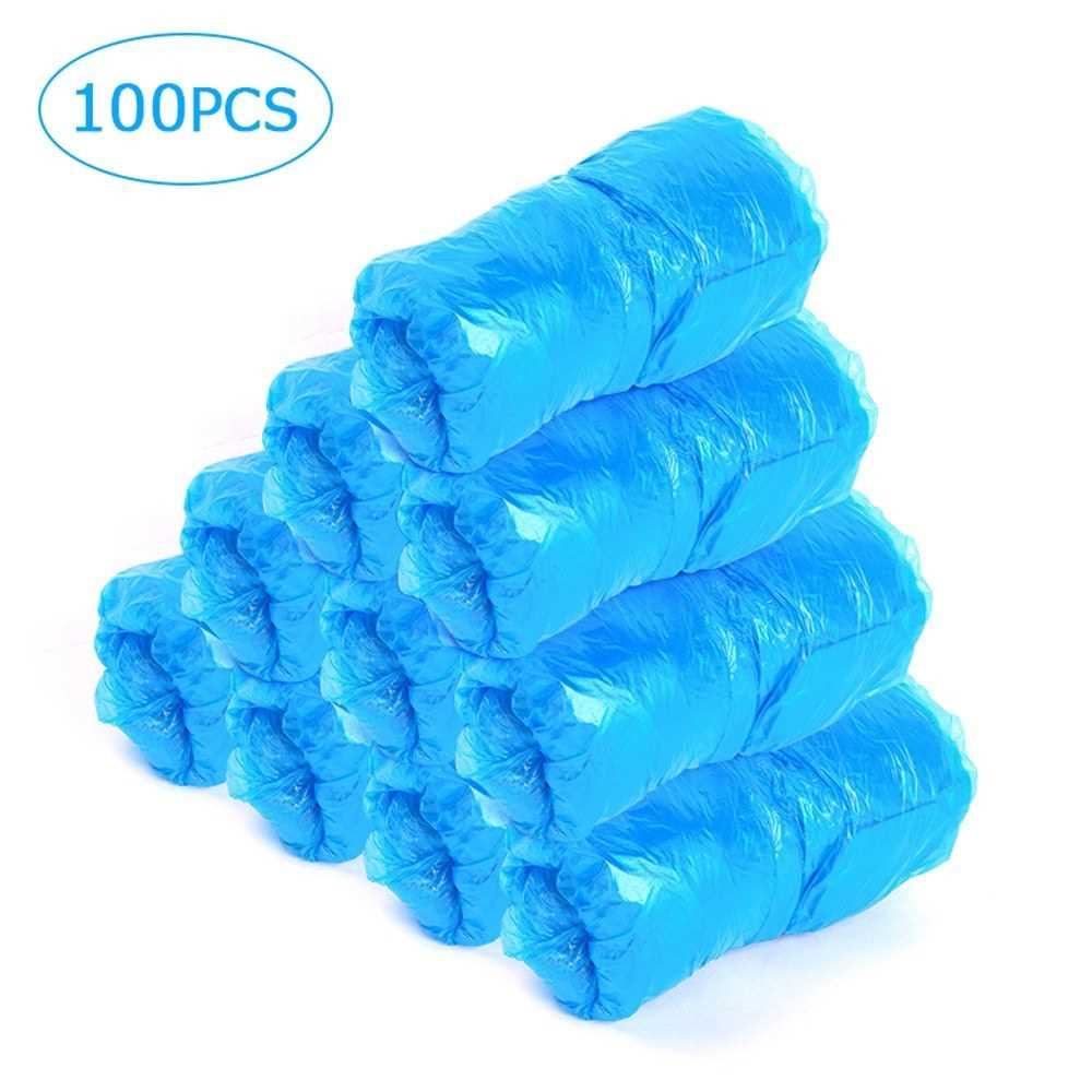 [ MEG.CQ ] 100 Pcs Shoe Cover Disposable Shoe Cover Dustproof Shoe Covers Waterproof Shoe Covers for Home Office Floor Protection (Standard)
