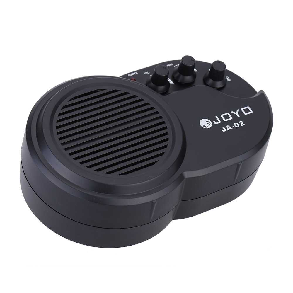 [ MEG.CQ ] JOYO JA-02 3W Mini Electric Guitar Amp Amplifier Speaker with Volume Tone Distortion Control (Yellow) Malaysia